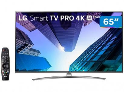 "Smart TV 4K LED IPS 65"" LG 65UM7650PSB Wi-Fi - Bluetooth HDR Inteligência..."