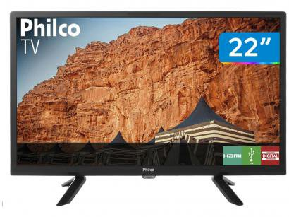 "TV LED 22"" Philco PTV22G50D - 2 HDMI 1 USB"