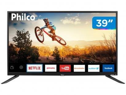 "Smart TV LED 39"" Philco PTV39E60SN Wi-Fi - Conversor Digital 2 HDMI 1 USB"