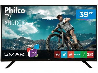 "Smart TV LED 39"" Philco PH39E60DSGWA - Android Wi-Fi Conversor Digital 2 HDMI 2..."
