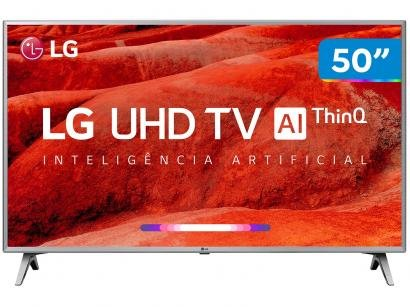 "Smart TV 4K LED 50"" LG 50UM7510PSB Wi-Fi HDR - Inteligência Artificial 4 HDMI 2..."