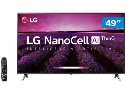 "Smart TV 4K NanoCell 49"" LG 49SM8000PSA Wi-Fi - HDR Inteligência Artificial..."