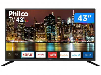 "Smart TV Full HD LED 43"" Philco PTV43G50SN - Wi-Fi 3 HDMI 2 USB"