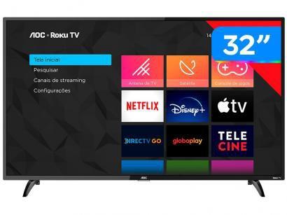 """Smart TV HD LED 32"""" AOC 32S5195/78G - Wi-Fi 3 HDMI 1 USB"""