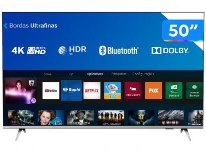 "Smart TV 4K LED 50"" Philips 50PUG6654/78 Wi-Fi - Bluetooth 3 HDMI 2 USB"