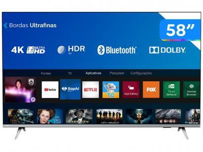 Smart TV 4K Philips 58PUG6654/78 Wi-Fi Bluetooth - HDR 3 HDMI 2 USB
