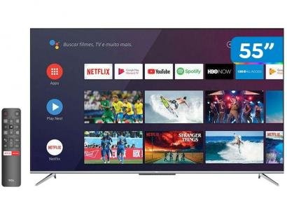 "Smart TV 4K UHD LED 55"" TCL 55P715 Android Wi-Fi - Bluetooth 3 HDMI 2 USB"
