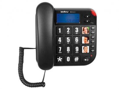 Telefone Com Fio Intelbras Tok Fácil ID - Identificador de Chamada Viva Voz...