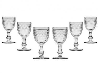 Jogo de Taças para Água Vidro 6 Peças - Bon Gourmet Glass Line 6740