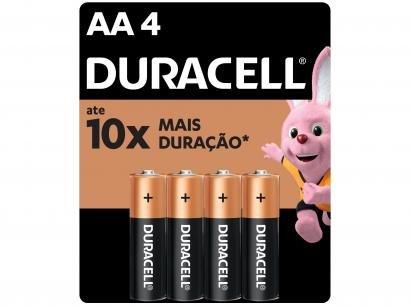 Pilha AA Pequena Alcalina 4 Unidades - Duracell