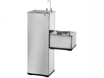 Purificador de Coluna Refrigerado por Compressor - Inox - Libell Press Side