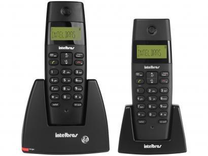 Telefone sem Fio Intelbras TS 40 C + Ramal - Identificador de Chamadas...