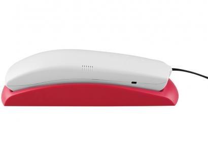 Telefone Com Fio Intelbras TC 20 - Cinza Ártico e Rosa