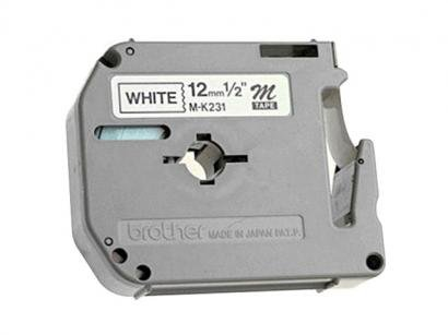 Fita para Rotulador Preta sobre Branco 12mm - Brother M 231
