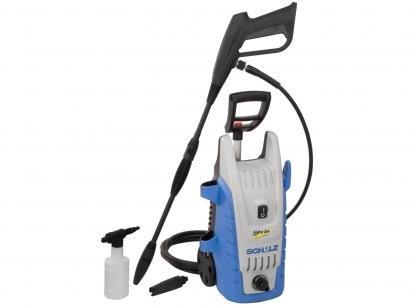 Lavadora de Alta Pressão Schulz 1450W 1600 Libras - Reservatório de Detergente Bico Turbo e Escova