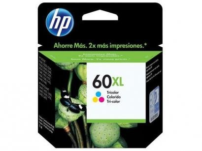 Cartucho de Tinta HP Colorido 60 XL - Original
