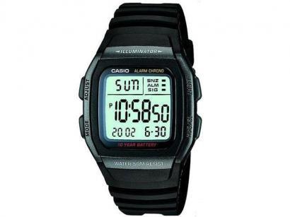 44ab7c75615 Relógio de Pulso Masculino Esportivo Digital - Cronômetro Casio Mundial  W-96H-1BVDF