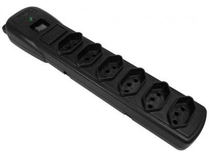 Filtro de Linha 6 Tomadas Bivolt Force Line Slim - Com Protetor contra Surtos