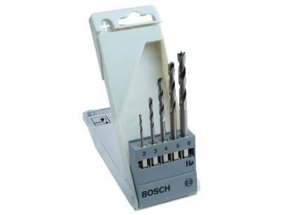 Jogo de Brocas para Madeira Bosch 5 Peças - de 2 à 6MM 2608595525