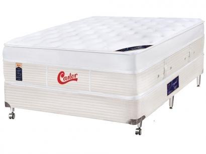 Cama Box Casal (Box + Colchão) Castor Molas - Molas Ensacadas/Pocket 55cm de...