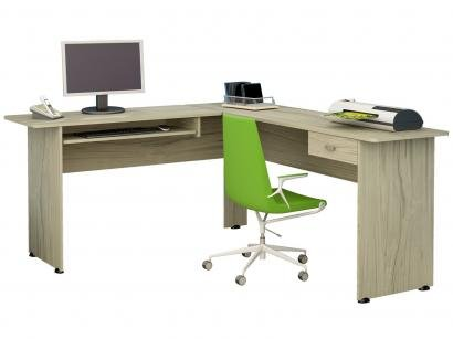 Mesa de Canto 1 Gaveta Home Office - Cannes Artely
