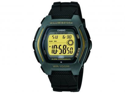 Relógio Masculino Casio Digital Esportivo - HDD-600G-9AVDF Cinza e Dourado