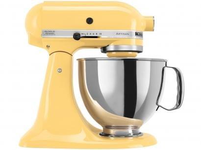 Batedeira Planetária KitchenAid Portátil Amarelo - Stand Mixer KEA33CYANA 275W...