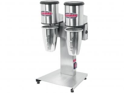 Batedor de Milk Shake Industrial BM 84 NR Inox - Bermar com 2 Copos por Vez