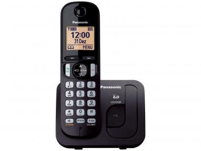 Telefone Sem Fio Panasonic KX-TGC210LBB - Identificador de Chamada Viva Voz...