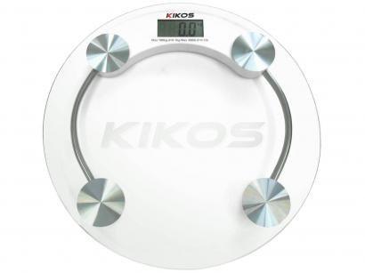 Balança Digital até 180kg Vidro Temperado - Super fina - Kikos Orion