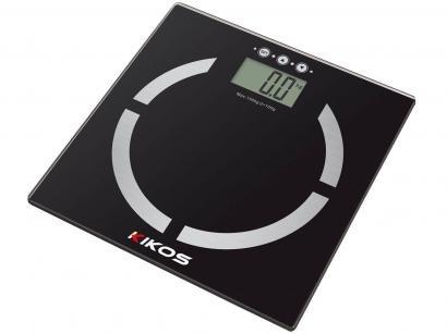Balança Digital com Medidor de Gordura - Vidro Temperado Super fina - Kikos...