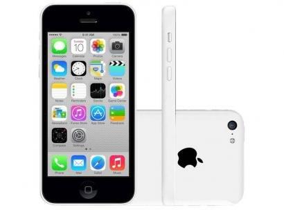 "iPhone 5c Apple 8GB 4G iOS 8 Tela 4"" Wi-Fi - Câmera 8MP Grava em HD GPS Proc...."