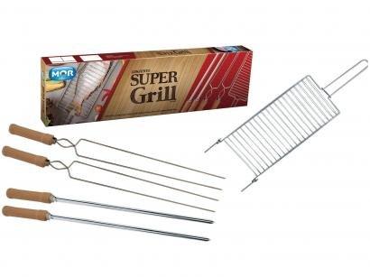 Kit Churrasco 5 Peças - Mor Super Grill