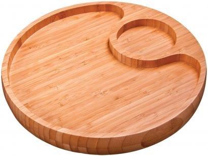 Gamela Oval em Bambu com 2 Divisórias - Mor 3364