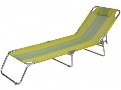 Cadeira Espreguiçadeira Alumínio Verde Reclinável - Mor 2410