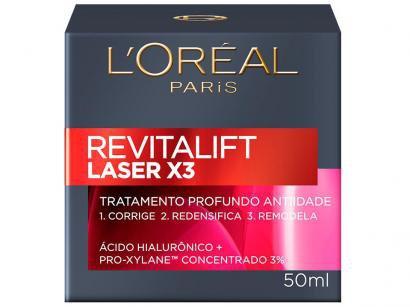 Creme Facial Anti-idade Revitalift Laser X3 - Loreal Paris 50g