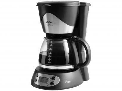 Cafeteira Elétrica Philco PH14 14 Xícaras Inox - Preto e Aço Escovado
