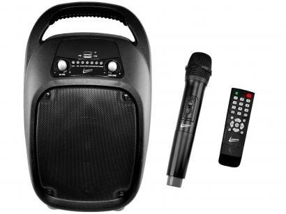 Mini Caixa de Som Amplificadora 100W RMS - USB Bluetooth com Microfone...