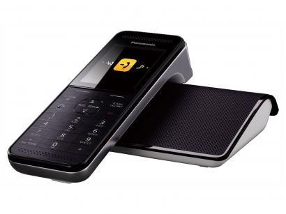 Telefone Sem Fio Panasonic KX-PRW110LBW - Identificador de Chamada Viva Voz...