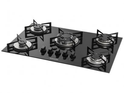 Cooktop 5 Bocas Suggar FG5305VP à Gás GLP - Tripla-Chama Acendimento...