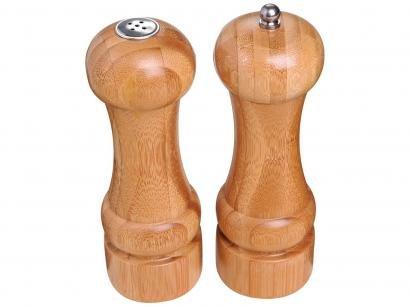 Conjunto Moedor Pimenta e Saleiro Bamboo - Mor
