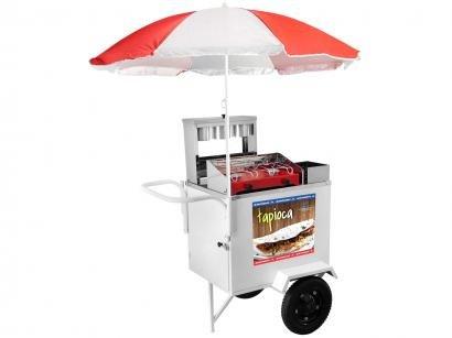 Carrinho de Tapioca Armon - Street Food Luxo com Guarda-sol