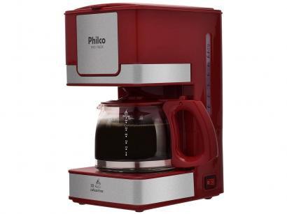 Cafeteira Elétrica Philco PH31 30 Xícaras Inox - Vermelho e Cinza