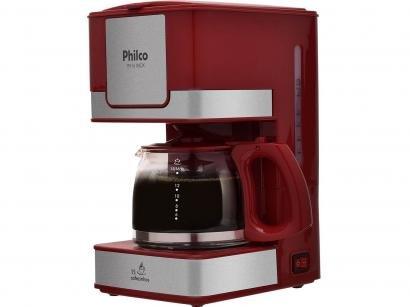 Cafeteira Elétrica Philco PH16 15 Xícaras Inox - Vermelho e Cinza