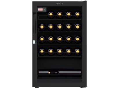 Adega Climatizada Venax 24 Garrafas Ngv 100 7838 - com Compressor Controle...