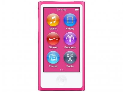 iPod Nano Apple 16GB Tela 2,5 Apple - Multi-Touch Pink Rádio FM e Bluetooth