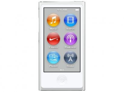 iPod Nano 16GB Prata Tela 2,5 Apple - Multi Touch, Rádio FM e Bluetooth