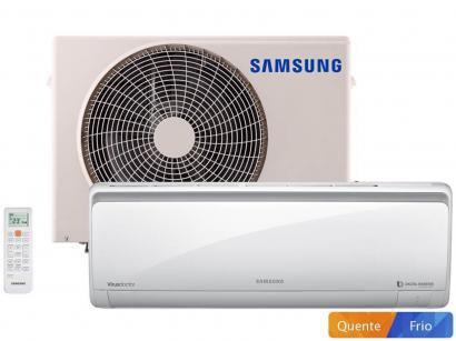 Ar-condicionado Split Samsung Inverter 9000 BTUs - Quente/Frio AR09HSSPBSN/AZ...