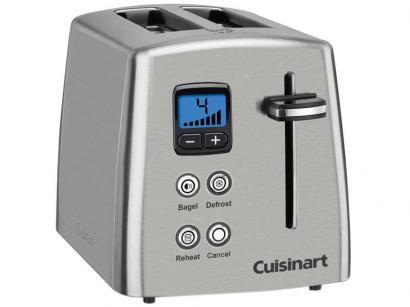 Torradeira Cuisinart Prata CPT-415BR - 6 Níveis de Tostagem Função Descongelar