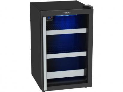 Cervejeira/Expositor Vertical Venax 82L - Blue Light 100 1 Porta